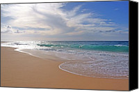 Boogie Canvas Prints - Sandy Beach Morning Canvas Print by Kevin Smith