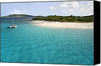 Cay Canvas Prints - Sandy Cay BVI Canvas Print by Bryan Allen