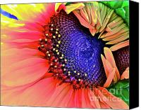 Sunflowers Canvas Prints - Sangria Canvas Print by Gwyn Newcombe