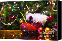 Santa Canvas Prints - Santa-claus boot Canvas Print by Carlos Caetano