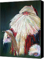 Santa Claus Canvas Prints - SANTA CLAUS  Making a List and Checking it Twice Canvas Print by Shelley Schoenherr