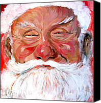 Santa Canvas Prints - Santa Claus Canvas Print by Tom Roderick