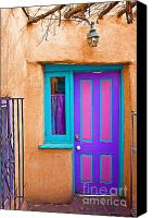 Santa Fe Canvas Prints - Santa Fe Door Canvas Print by Steve Sturgill