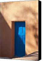 Santa Canvas Prints - Santa Fe Portal Canvas Print by Steve Gadomski
