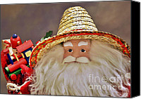 Santa Claus Canvas Prints - Santa is a gardener Canvas Print by Christine Till