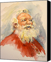 Father Christmas Canvas Prints - Santa is That You Canvas Print by P Maure Bausch