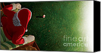 Glove Mixed Media Canvas Prints - Santas coming Canvas Print by Michel Le