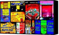 Bars Canvas Prints - Santiago Funky Walls  Canvas Print by Funkpix Photo  Hunter