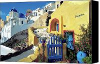 Thira Canvas Prints - Santorini 021 Canvas Print by Manolis Tsantakis