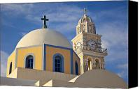 Thira Canvas Prints - Santorini Church Canvas Print by Brian Jannsen