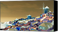 Architectur Canvas Prints - Santorini Canvas Print by Ilias Athanasopoulos