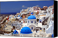 Chapel Canvas Prints - Santorini Island. Canvas Print by Fernando Barozza