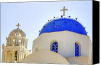Chapel Canvas Prints - Santorini Canvas Print by Joana Kruse