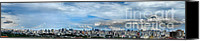 Photographs Digital Art Canvas Prints - Sao Paulo Brazil Panoramic Canvas Print by Pg Reproductions