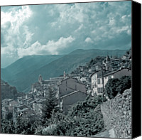 Provence Canvas Prints - Saorge  Vallee Des Merveilles In Nice Hinterland Canvas Print by Alexandre Fundone