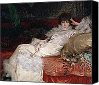 1923 (oil On Canvas) Canvas Prints - Sarah Bernhardt Canvas Print by Georges Clairin