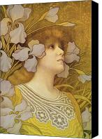 Singer Painting Canvas Prints - Sarah Bernhardt Canvas Print by Paul Berthon