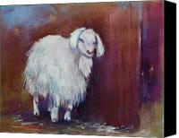 Goat Pastels Canvas Prints - Sarah Canvas Print by Joyce A Guariglia