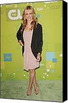 Michelle Canvas Prints - Sarah Michelle Gellar Wearing A Rebecca Canvas Print by Everett