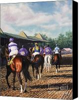 Pdjf Canvas Prints - Saratoga Post Parade Canvas Print by Thomas Allen Pauly