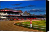 Ny Canvas Prints - Saratoga Race Track Canvas Print by Don Nieman
