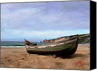 Stormy Canvas Prints - Sardine Boat Canvas Print by James Shepherd