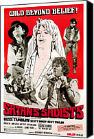 1960s Poster Art Canvas Prints - Satans Sadists, Russ Tamblyn Bottom Canvas Print by Everett