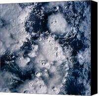 Thunderclouds Canvas Prints - Satellite View Of Thunderclouds Canvas Print by Stocktrek Images