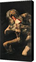 Chronos Canvas Prints - Saturn Devouring one of his Children  Canvas Print by Goya
