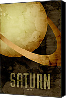 Outer Space Canvas Prints - Saturn Canvas Print by Michael Tompsett