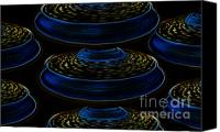 Aliens Canvas Prints - Saucers Canvas Print by David Lee Thompson
