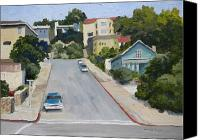 Sausalito Painting Canvas Prints - Sausalito Street Canvas Print by Maralyn Miller