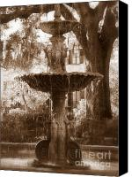 Savannah Square Canvas Prints - Savannah Romance Canvas Print by Carol Groenen