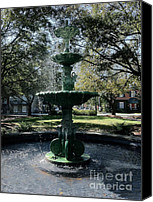 Savannah Square Canvas Prints - Savannah Splash Canvas Print by Carol Groenen