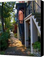 Savannah Square Canvas Prints - Savannah Streets Canvas Print by M J Glisson