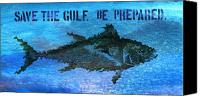 Gulf Of Mexico Canvas Prints - Save the Gulf America 2 Canvas Print by Paul Gaj