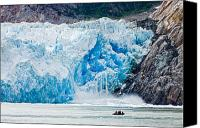 Whalen Photography Canvas Prints - Sawyer Glacier Calving Canvas Print by Josh Whalen