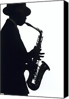 Play Canvas Prints - Sax 2 Canvas Print by Tony Cordoza