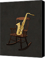 New York Music Canvas Prints - Sax Rocks Canvas Print by Eric Kempson