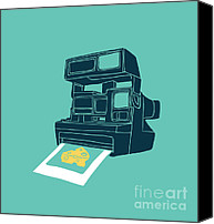 Polaroid Camera Canvas Prints - Say Cheese Canvas Print by Budi Satria Kwan