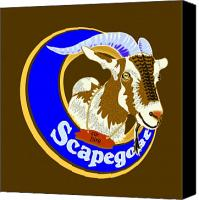 T-shirt Canvas Prints - Scapegoat for Hire Canvas Print by Laura Brightwood