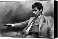 Tony Canvas Prints - Scarface 2 Canvas Print by Ylli Haruni