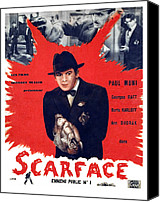 1930s Movies Canvas Prints - Scarface, Paul Muni, 1932 Canvas Print by Everett