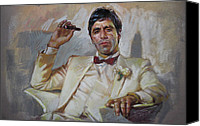 Tony Canvas Prints - Scarface Canvas Print by Ylli Haruni
