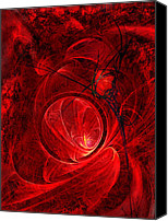 St George Digital Art Canvas Prints - Scarlet Luminance Canvas Print by Paul St George