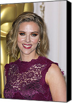 Academy Awards Oscars Canvas Prints - Scarlett Johansson In The Press Room Canvas Print by Everett