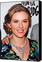 Updo Canvas Prints - Scarlett Johansson Wearing Van Cleef & Canvas Print by Everett