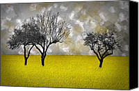 Rapeseed Canvas Prints - Scenery-Art Landscape Canvas Print by Melanie Viola
