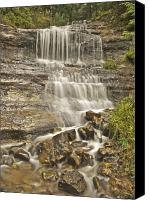 Michigan Waterfalls Canvas Prints - Scenic Alger Falls  Canvas Print by Michael Peychich
