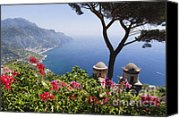Amalfi Coast Canvas Prints - Scenic Vista of the Amalfi Coast at Ravello Canvas Print by George Oze